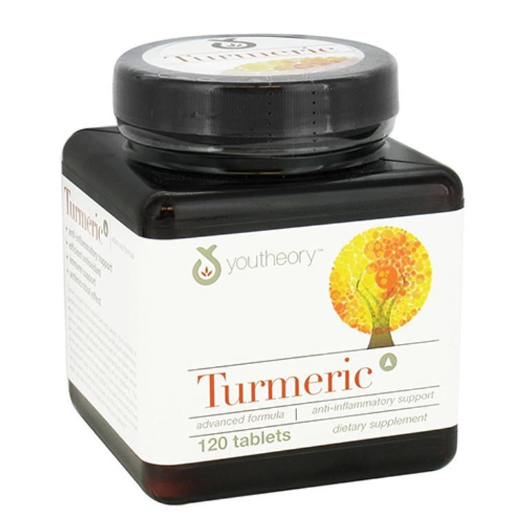 Youtheory Turmeric Advanced Formula Tablets, 120 Ea