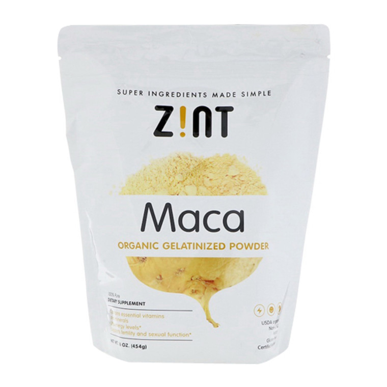 Zint Maca Organic Gelatinized Powder, 16 Oz