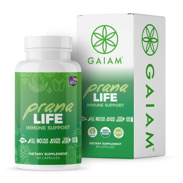 Gaiam Organic Prana Life Immune Support Capsules, 60 Ea