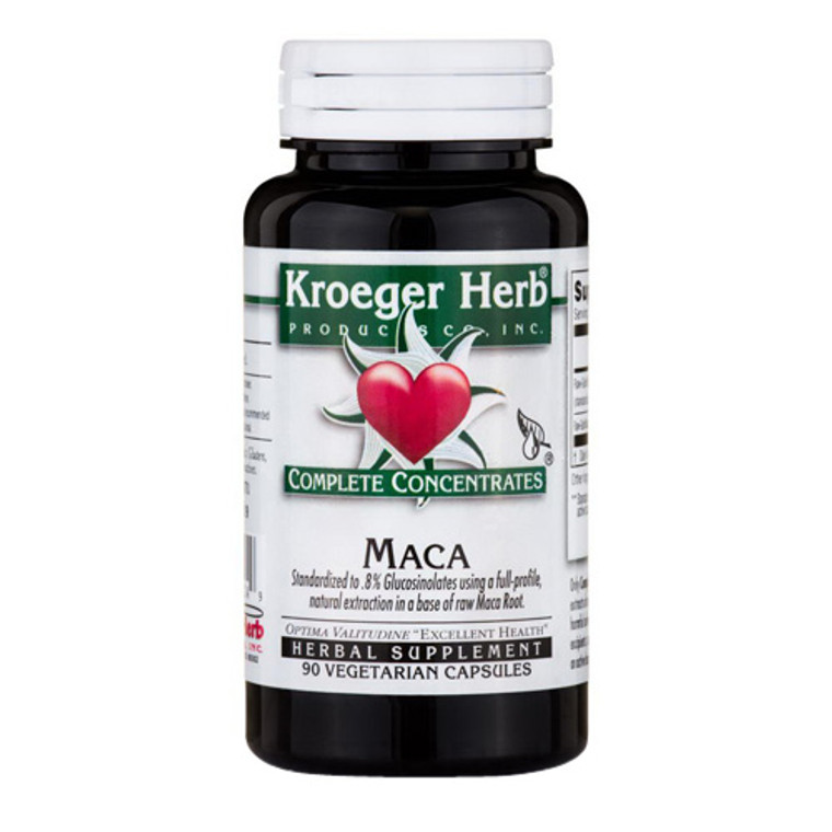 Kroeger Herb Products Maca Complete Concentrate Vegetarian Capsules, 90 Ea
