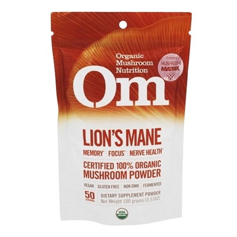 Mushroom Matrix Lions Mane Organic Mushroom Supplement Powder, 3.57 Oz