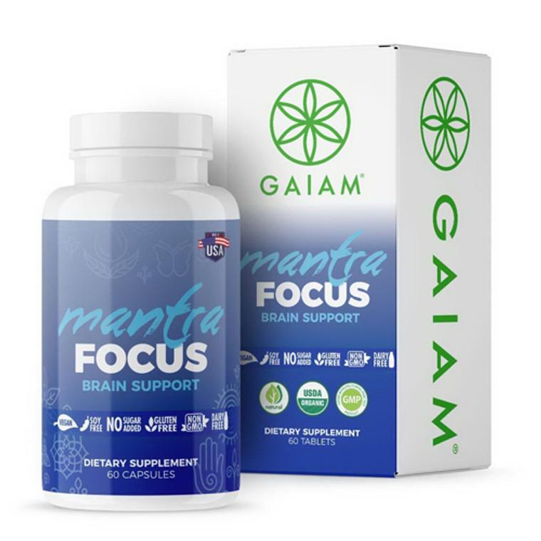 Organic Mantra Focus Brain Support Capsules By Gaiam, 60 Ea