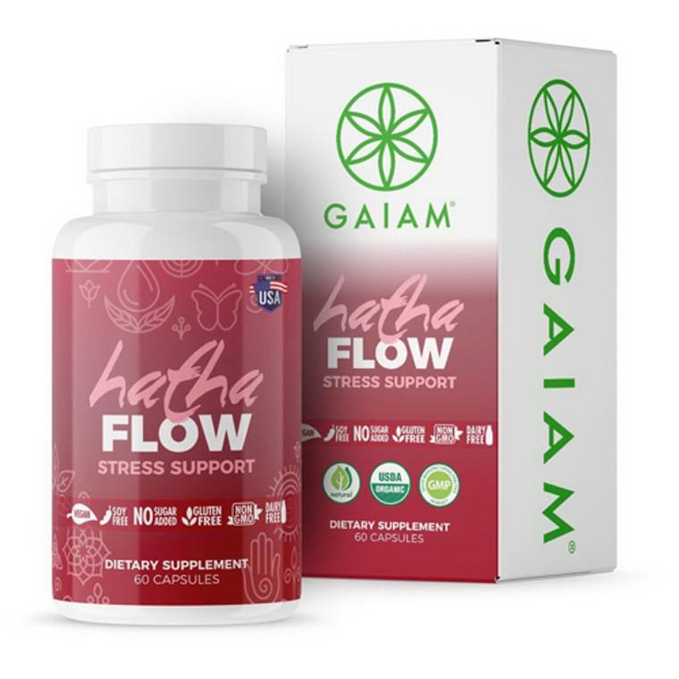 Gaiam Organic Hatha Flow Stress Support Capsules, 60 Ea