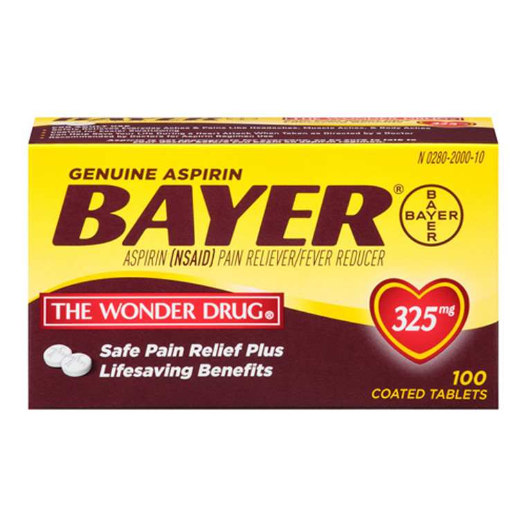 Bayer Aspirin Pain Reliever 325Mg Tablets - 100  Tablets