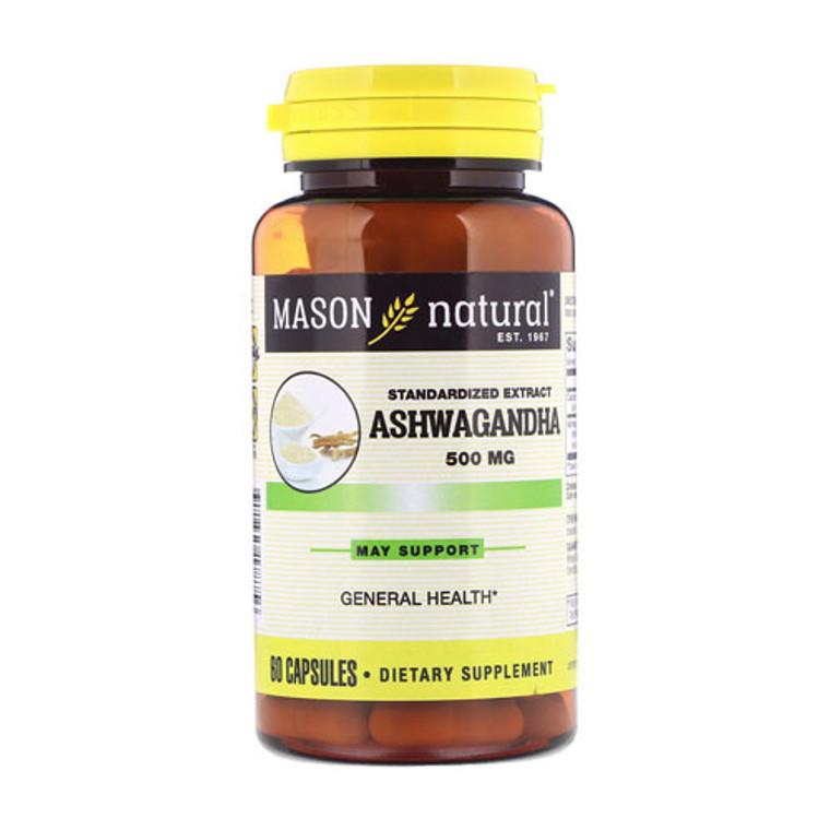Mason Natural Ashwagandha Standardized Extract 500 mg Capsules, 60 Ea