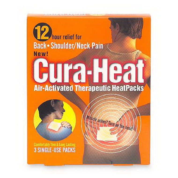 Cura-Heat Pack Back And Shoulder Pain - 3 Ct