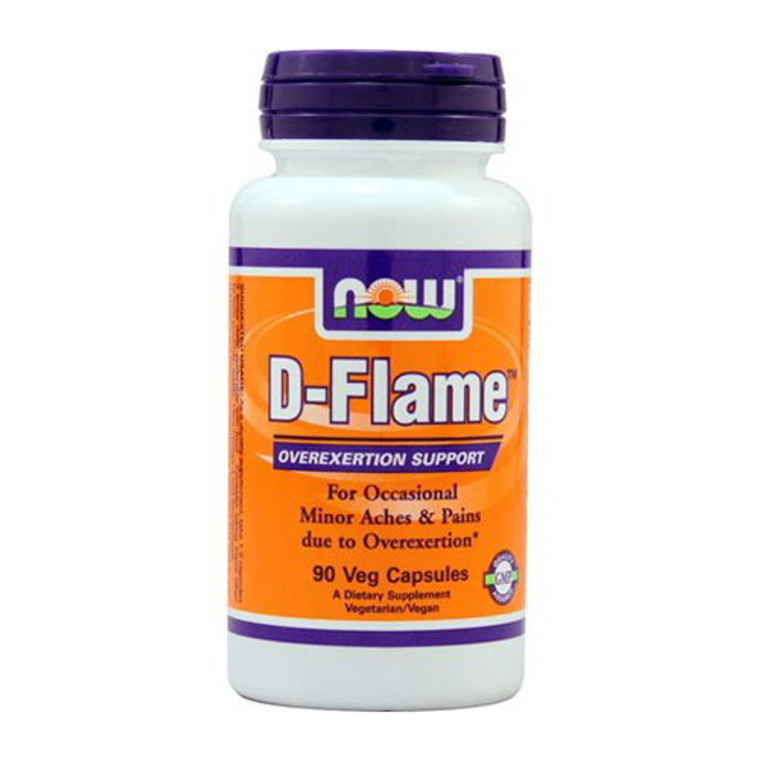 Now Foods D Flame Overexertion Support, Veg Capsules, 90 Ea