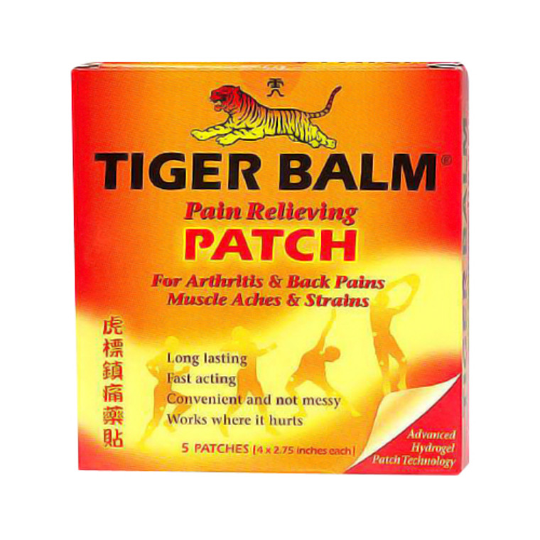 Tiger Balm Pain Relieving Patch - 5 Ea