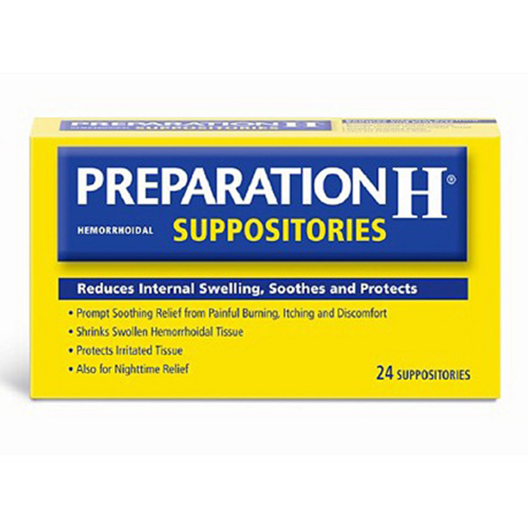 Preparation H Hemorrhoidal Prompt Soothing Relief Suppositories, 24 Ea