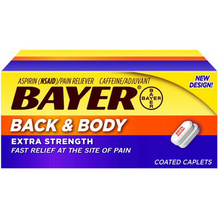Bayer Extra Strength Back And Body Aspirin Pain Reliever Coated Caplets - 100 Ea