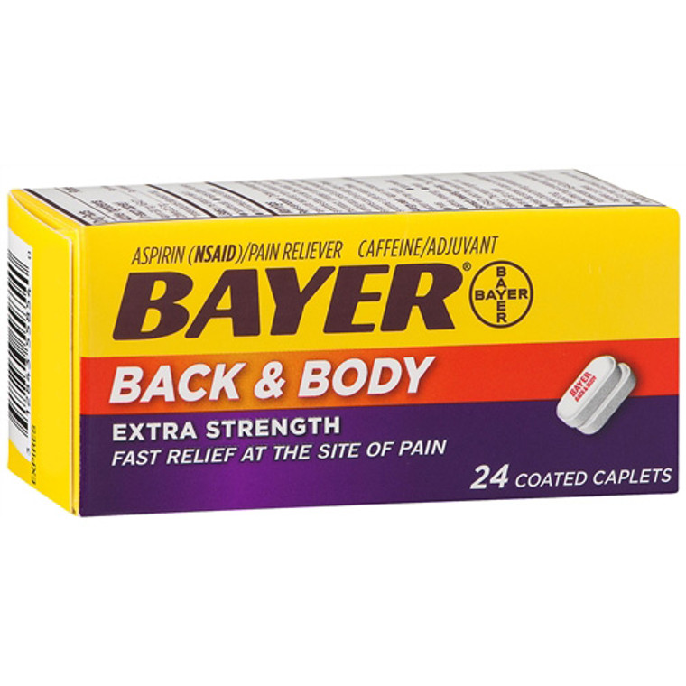 Bayer Back And Body Extra Strength Coated Caplets - 24 Ea