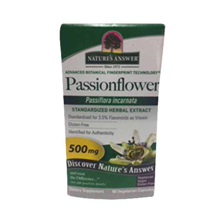 Natures Answer Passion Flower Tops Extract 500 Mg Capsules- 60 Ea