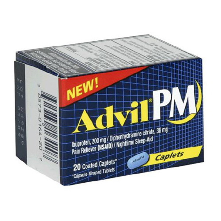Advil Pm Pain Reliever And Nighttime Sleep-Aid Coated Caplets - 20 Ea