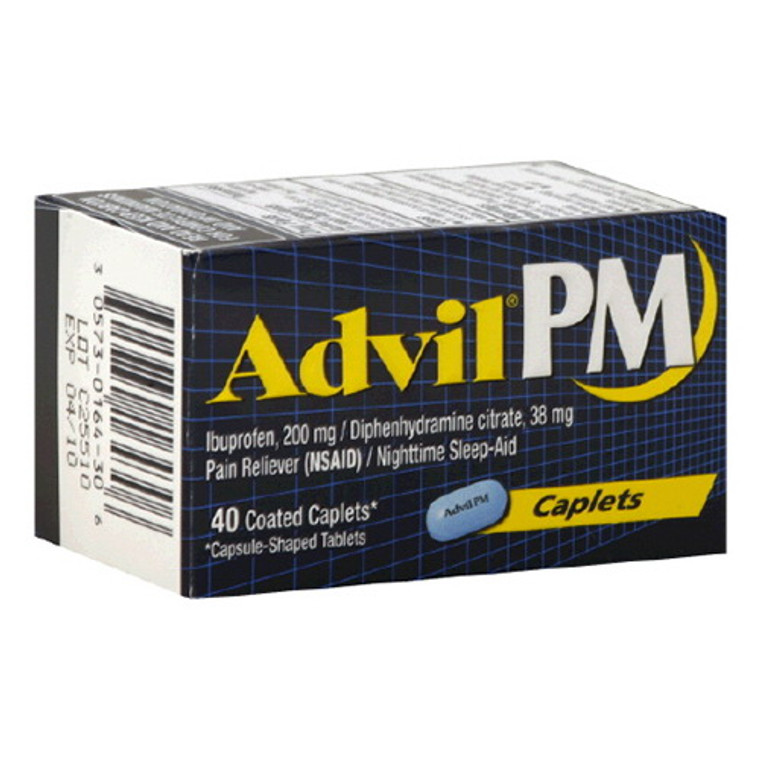 Advil Pm 200Mg Pain Reliever And Nighttime Sleep-Aid Coated Caplets - 40 Ea