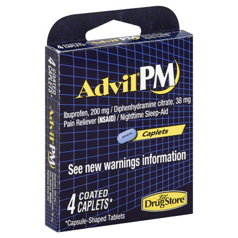 Advil Pm Nighttime Sleep Aid And Pain Relivere Coated Caplets - 4 Ea/ 6 Pack