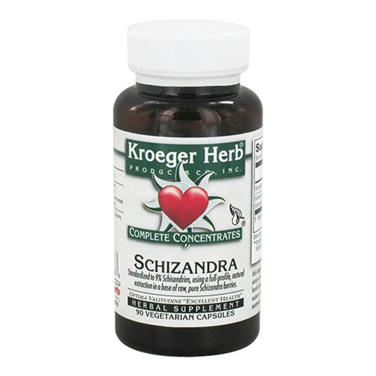 Kroeger Herbs Schizandra Complete Concentrate Vegetarian Capsules, 90 Ea