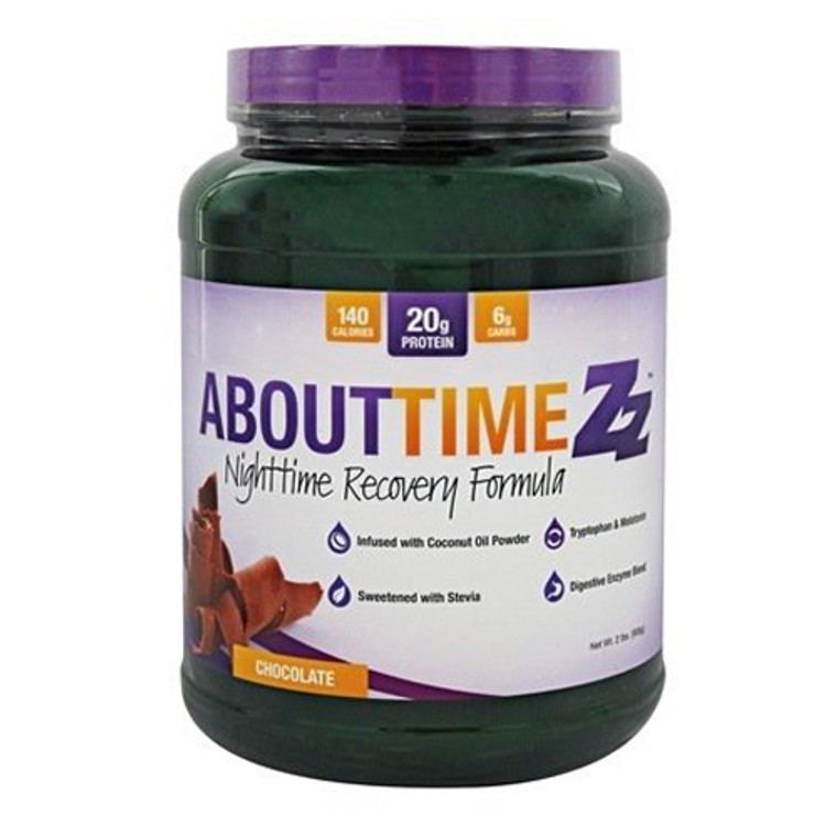 About Time Zz Nighttime Recovery Formula Protein Powder, Chocolate, 2 Lb