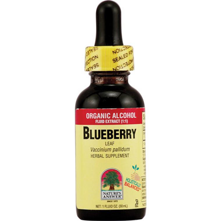 Natures Answer Organic Alcohol Blueberry Leaf - 1 Oz