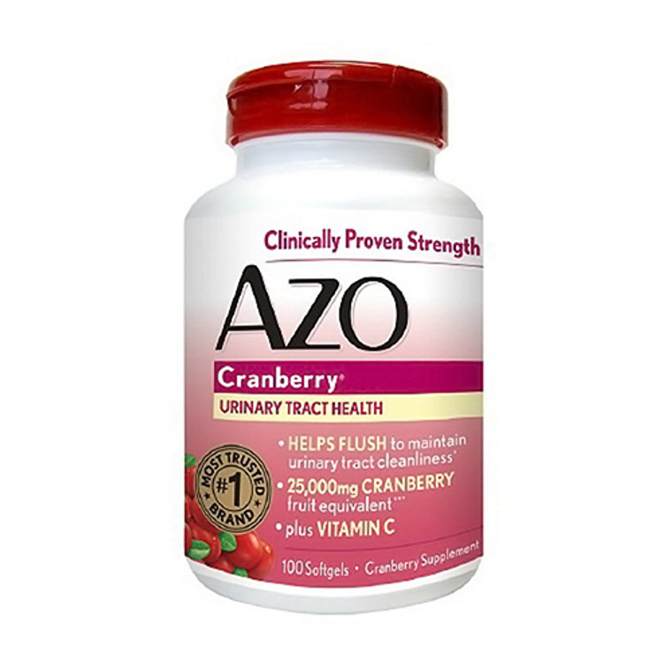 Azo Cranberry For Urinary Tract Infections Max Strength, 100 Softgels