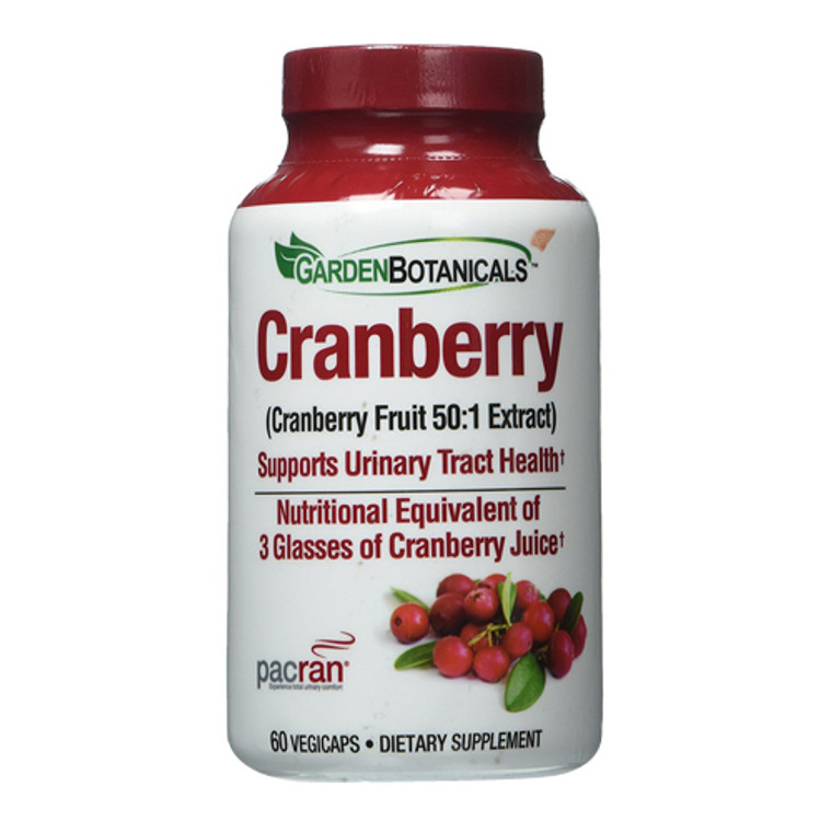 Garden Botanicals Drink Mix, Vegetarian Capsules, Cranberry, 60 Ea