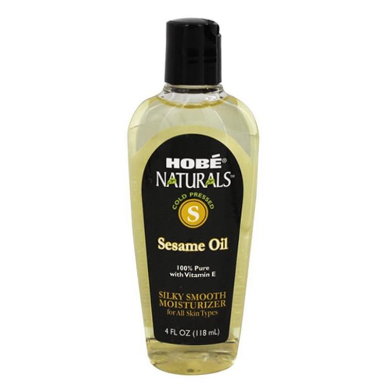 Hobe Naturals Beauty Oils, 100% Pure Sesame Oil with Vitamin E, Silk Smooth Moisturizer, 4 Oz
