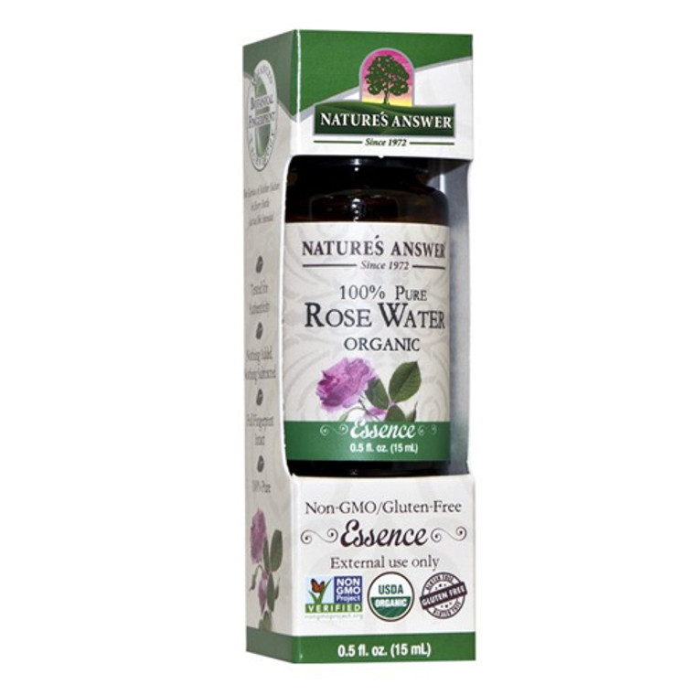 Natures Answer Organic Rosewater Pure Essential Oil, 0.5 Oz