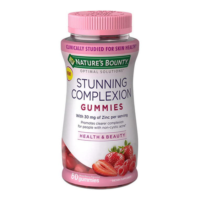 Natures Bounty Optimal Solutions Stunning Complexion Gummies, 60 Ea