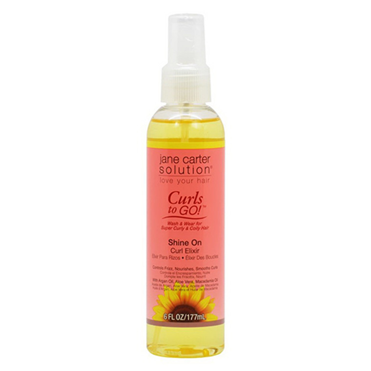 Curls To Go Shine On Curl Elxir By Jane Carter Solution, 6 Oz