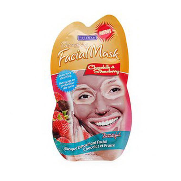 Freeman Feeling Beautiful Facial Mask, Chocolate And Strawberry - 0.50 Oz