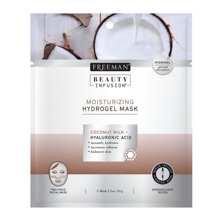 Freeman Beauty Infusion Moisturizing Hydrogel Mask Coconut Milk And Hyaluronic Acid, 0.95 Oz