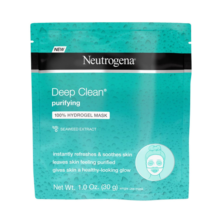 Neutrogena Deep Clean Hydrogel Face Mask, Purifying Sea Weed Extract, 1 Oz