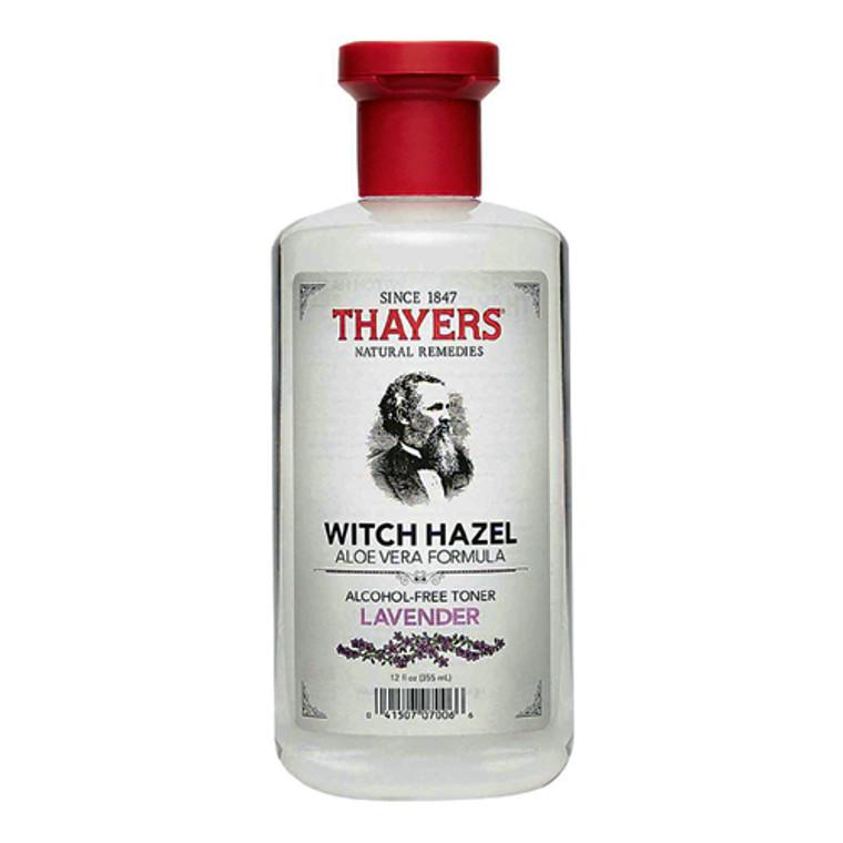 Thayers Witch Hazel Alcohol-Free Toner With Aloe Vera,  Lavender - 12 Oz