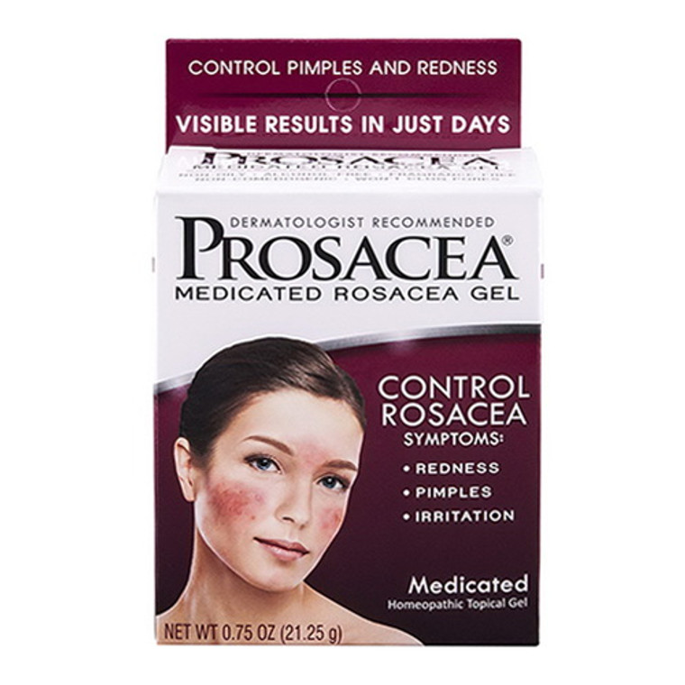 Prosacea Medicated Rosacea Homeopathic Topical Gel, 0.75 Oz