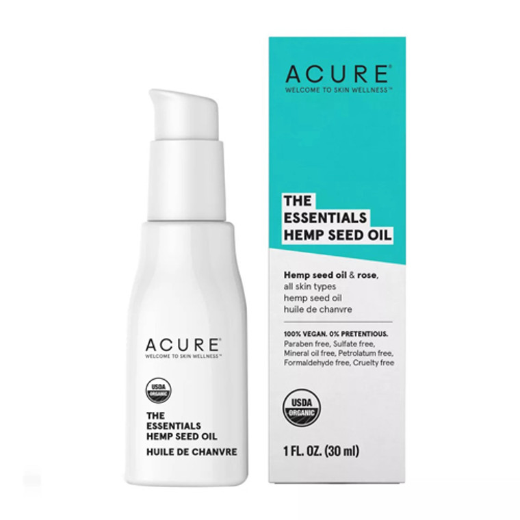 Acure The Essentials Hemp Seed Oil, 1 Oz