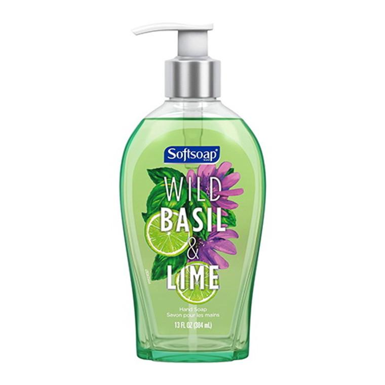 Softsoap Liquid Hand Soap Pump, Wild Basil and Lime, 13 Oz