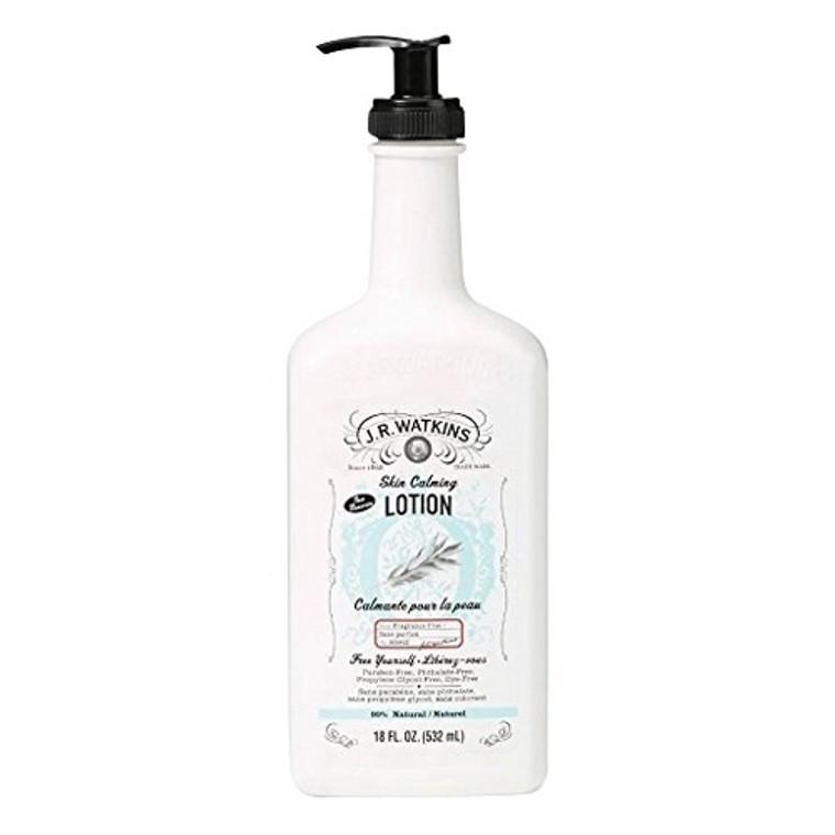 JR Watkins Natural Hand and Body Fragrance Free Calming Lotion, 18 Oz
