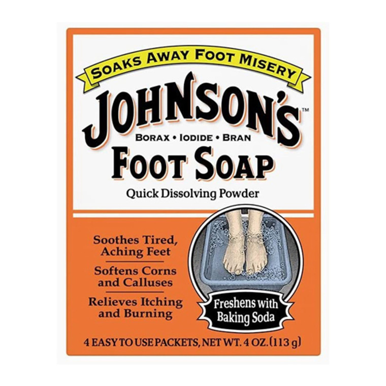 Johnsons Foot Soap Quick Dissolving Powder, 8 Packets
