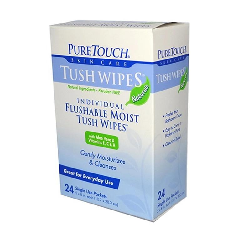 Pure Touch Skin Care Individual Flushable Moist Tush Wipes  - 24 Ea