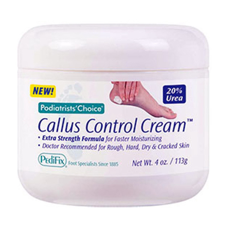 Pedifix Podiatrists Choice Extra Strength Callus Control Hydration And Exfoliate Foot Cream, 4 Oz