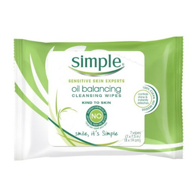 Simple Cleansing Facial Wipes, Kind to Skin, 7 Ea