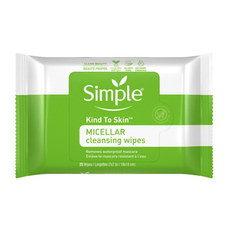 Simple Micellar Make-Up Remover Wipes, 25 Ea