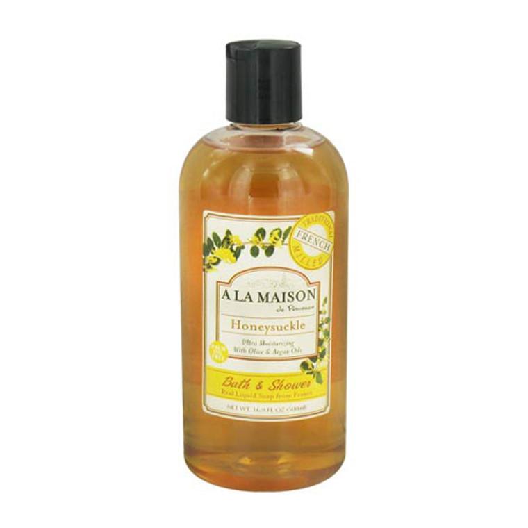 A La Maison De Provence Ultra Moisturizing Liquid Soap, Honeysuckle - 16.9 Oz