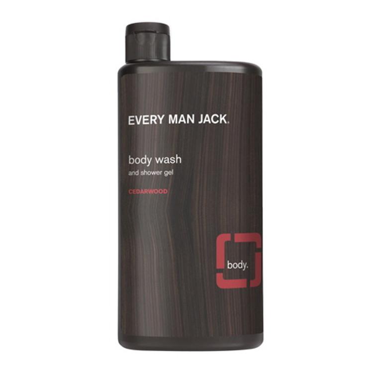 Every Man Jack Body Wash and Shower Gel, Cedarwood, 16.9 Oz