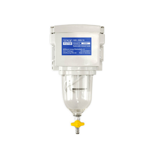 Single 285 GPH Fuel Water Separator with Clear Bow - 53-2594