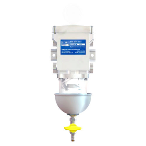 Single 158 GPH Fuel Water Separator with Clear Bow - 51-2550