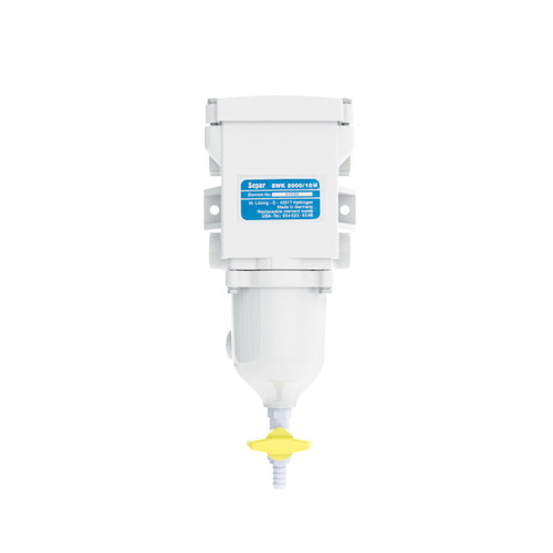 Single 158 GPH Fuel Water Separator with Metal Bow