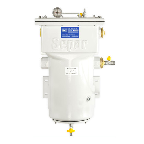 Single 2060 GPH Fuel Water Separator with Metal Bo