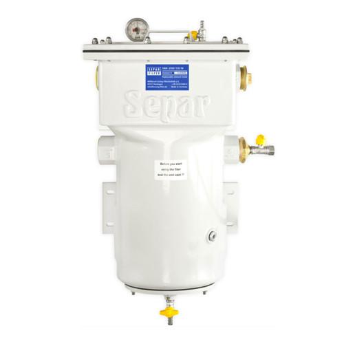 Single 2060 GPH Fuel Water Separator with Metal Bo