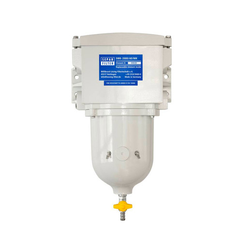 Single 634 GPH Fuel Water Separator with Metal Bow