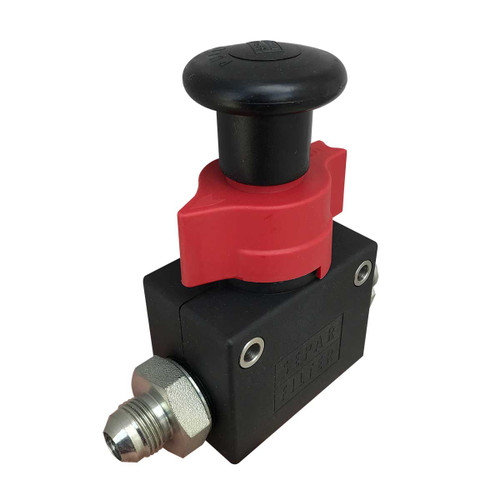 "Hand Priming Pump with  1/2"" Male JIC Inlet / Outl"